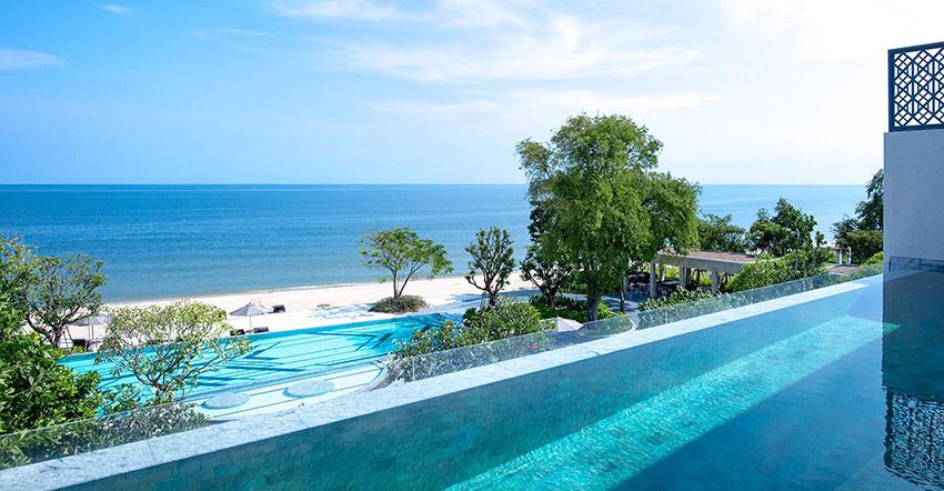 Pool views at Baba Beach Club Hua Hin- Cha Am Luxury Hotel by Sri Panwa