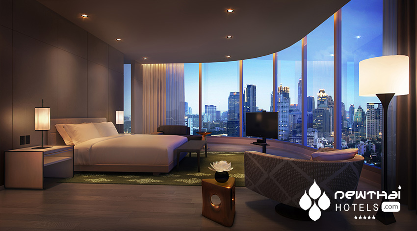 Presidential Suite bedroom at Park Hyatt Bangkok