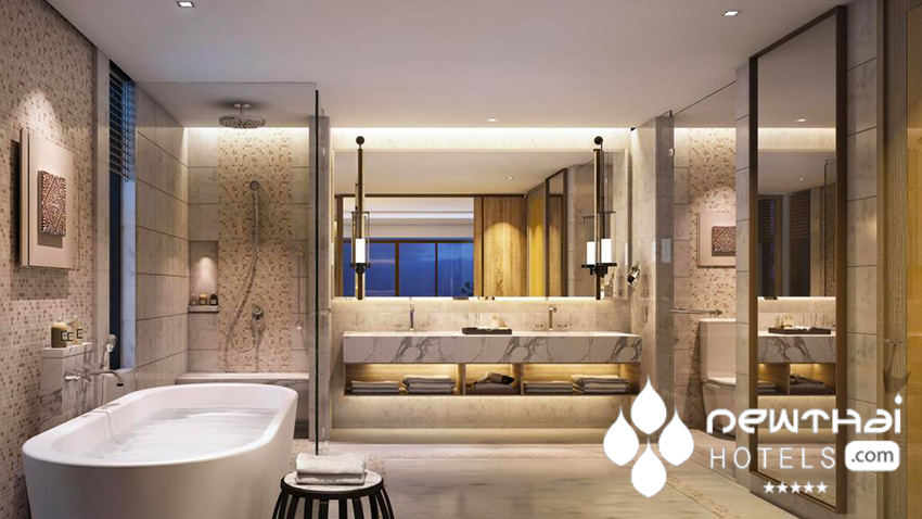 Phuket Marriott Resort and Spa Nai Yang Beach 1 bedroom suite bathroom