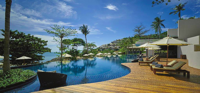 The pool at The Ritz Carlton Ko Samui