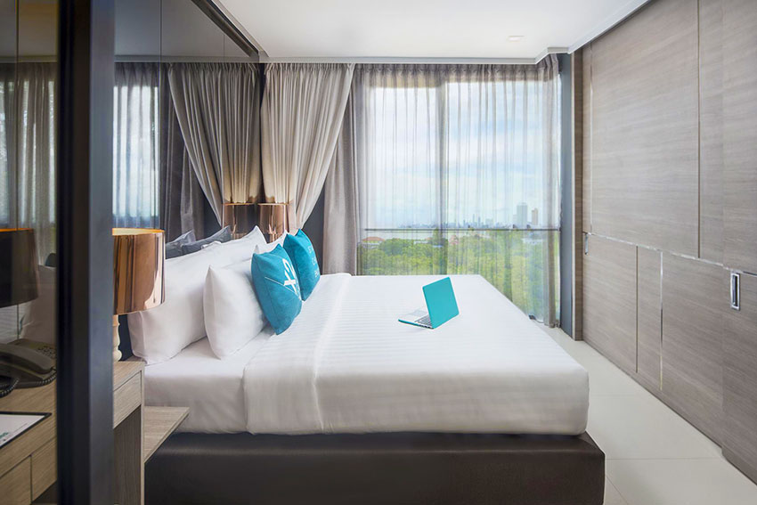 Seaview Guestroom at X2 Vibe Seaphere Pattaya