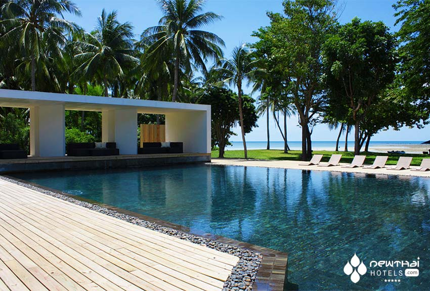 Beachfront pool at X2 Samui