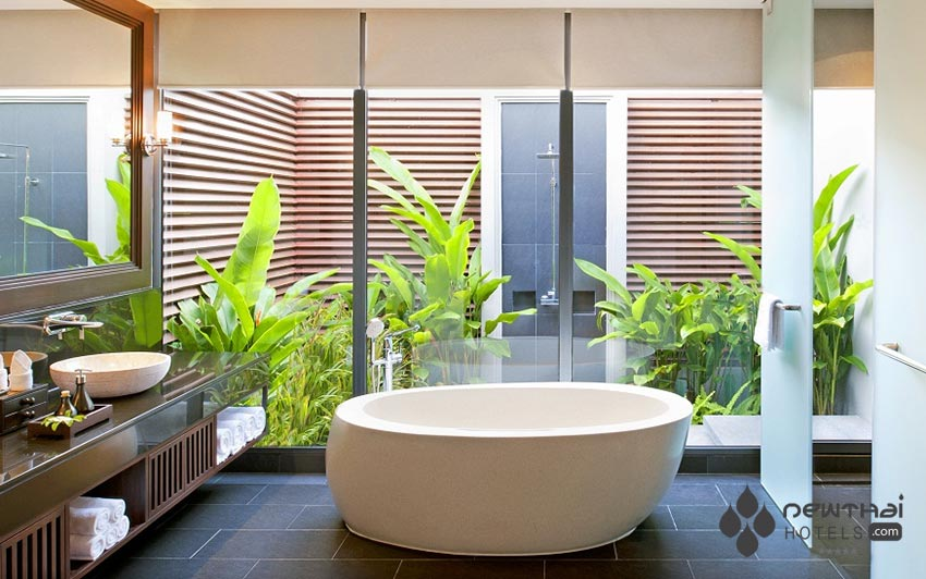 Bathroom in the luxurious villas at Anantara Vacation Club Mai Khao