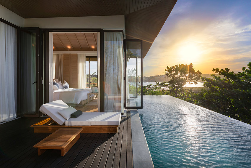 The Deluxe Pool Villa at Cape Fahn Hotel Samui