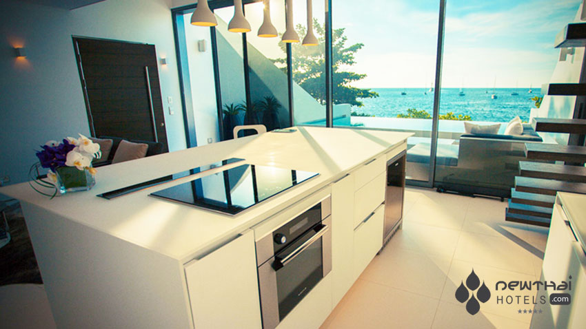 Villa kitchen at Kata Rocks Phuket