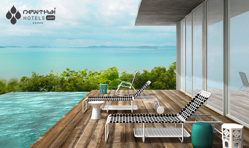 Rendering of pool deck of the pool villa at Point Yamu by Como