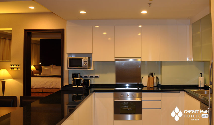 Fully equipped kitchen at Sukhumvit Park Marriott