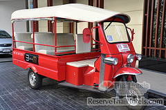 Free tuktuk for guests to get to Sukhumvit Road
